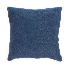 "Blue 16"" x 16"" Weaved Motif Cushion"