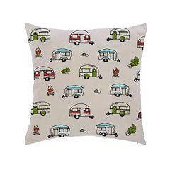 """Camper 17"""" x 17"""" Beige Cushion"""