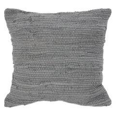 "Grey Weave 17"" x 17"" Motif Cushion"