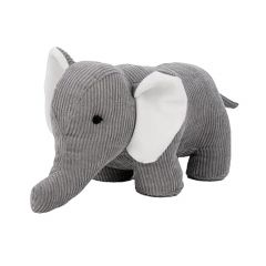 "Grey Elephant 12"" x 5.5"" Doorstopper"