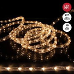 15' Rope Light With 120 LED Warm White Bulbs
