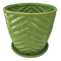 Assorted Bright Chevron Pots 5""