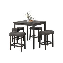 Square Coffee Table With 4 Stools