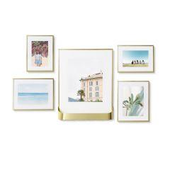 Matinee Matte Brass 5 Piece Frame Set