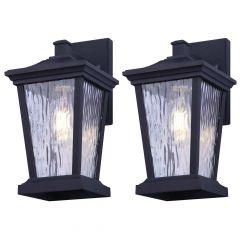 "8"" NYX Outdoor Light Fixtures Matte Black With Watermark-2/P"