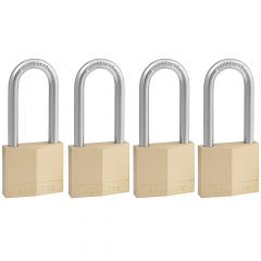 "1-9/16"" Wide Solid Brass Padlock with 2"" Shackle-4/Pack"