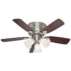 """Builder Low Profile 42"""" Indoor New Bronze Ceiling Fan"""