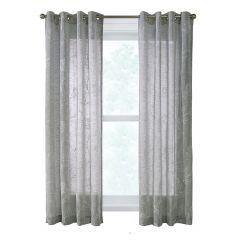 "52"" x 84"" Anemone Grey Sheer Curtain"