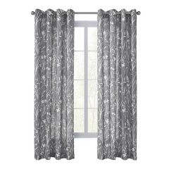 "52"" x 84"" Augusta Grey Sheer Curtain"