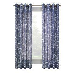 """52"""" x 84"""" Augusta Blue Sheer Curtain"""