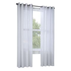 "52"" x 84"" Broadway White Sheer Curtain"