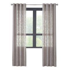 """52"""" x 84"""" Bruxelles Grey Sheer Curtain"""