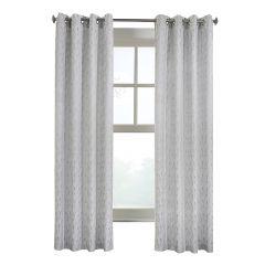 "52"" x 84"" Arcadia Grey Light Filtering Curtain"