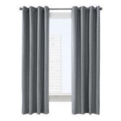 "52"" x 84"" Canberra Grey Blackout Curtain"