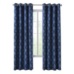 "52"" x 84"" Darwin Navy Blackout Curtain"