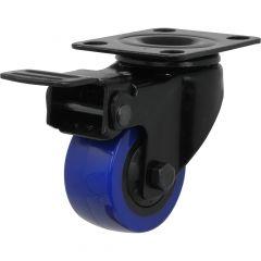 "2"" Blue Diamond Caster Swivel With Total Lock Brake"