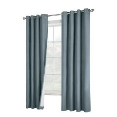 "52"" x 84"" Suprema Blue Blackout Curtain"