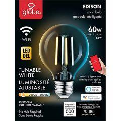 4.5 Watt G25 LED WiFi Dimmable Clear Filament Smart Bulb