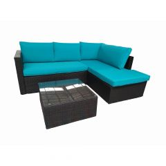 Grand-Pre Sectional Lounge Set- Blue