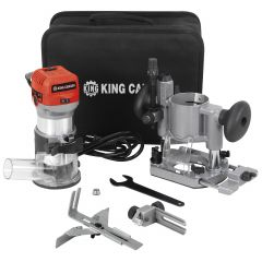 Variable Speed Router And Trimmer Combo Kit