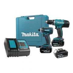 18V 3.0 AH 2 Piece Drill Driver / Impact Driver Kit, 3 Batte
