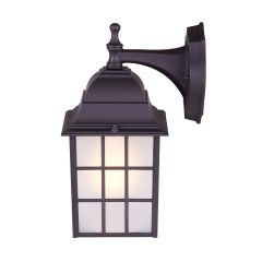 Colton Oil Rubbed Bronze Wall Lantern Frosted Glass-2/Pack