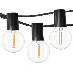 24 ft LED Seasonal String Light G40 1W 2200K