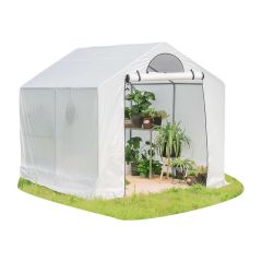"Green House With 4' Shelf 6'1"" x 8' x 6'"
