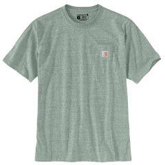 Workwear Pocket Short Sleeve T Shirt Green Heather