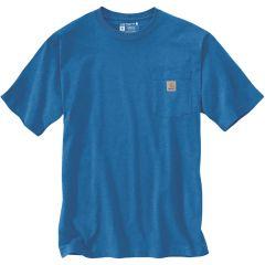 Workwear Pocket Short Sleeve T Shirt Light Cobalt Heather