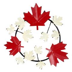 "24"" x 23.5"" Maple Leaf Wreath Large Plaque"