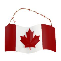 "12"" x 7"" Canada Flag Sign"