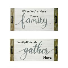 """12"""" x 25"""" Family Gather Wall Plaque"""