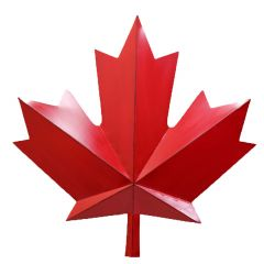 """12"""" x 12"""" Maple Leaf Canada Plaque"""