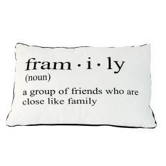 "19"" x 12"" Framily Definition Rectangular Cushion"