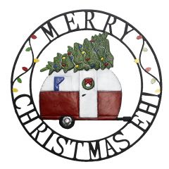 """22"""" Merry Christmas EH! Circle Plaque"""
