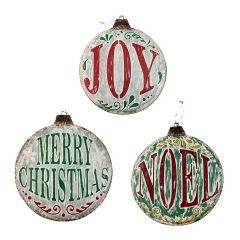 """15"""" Christmas Ornament Circle Plaques- Assorted"""