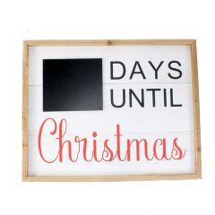 "16"" x 20"" Christmas Countdown Wall Plaque"