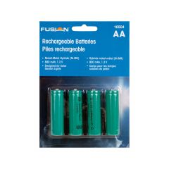 Solar AA Batteries-4/Pack