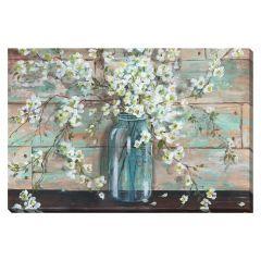"22"" x 28"" Blossoms in Mason Jar Canvas"
