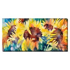 "20"" x 40"" Row of Sunflowers Canvas"