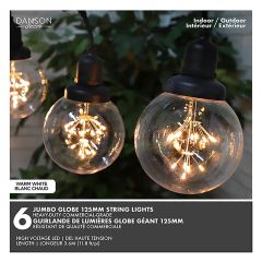 6 Light Jumbo Clear Multi Function String Lights