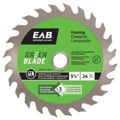 "Framing 5 3/8""X24T Green Saw Blade"