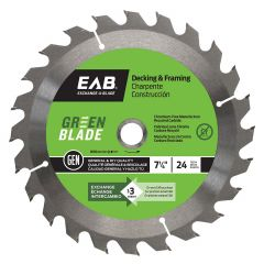 "Framing 7 1/4""X24T Green Saw Blade"