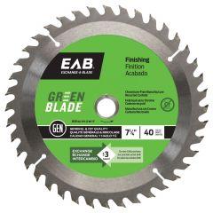 "Finishing 7 1/4""X40T Green Saw Blade"