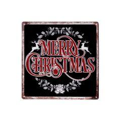 """12"""" x 12"""" Merry Christmas Plaque"""
