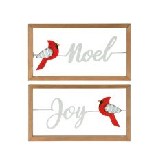 "12"" x 7"" Noel and Joy Framed Plaque-Assorted"