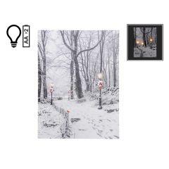 "12"" x 16"" Winter Path LED Canvas"
