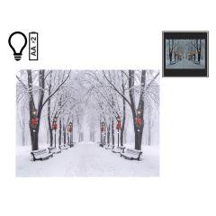 "16"" x 12"" Winter Scene LED Canvas"