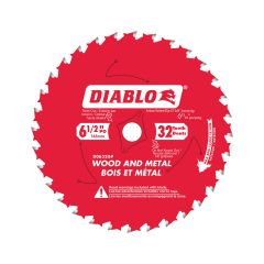 """6-1/2"""" x 32T Wood And Metal Blade"""